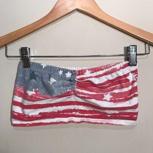 American flag cotton tube top bralette